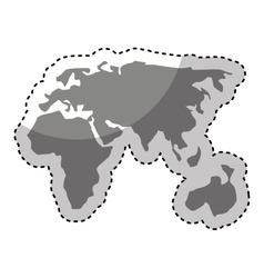 world planet map icon vector image