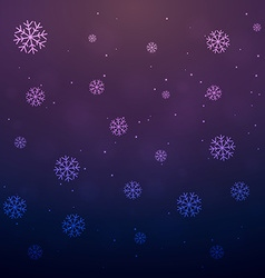 Snowflakes falling vector
