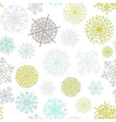 Ornate snowflake seamless background  eps8 vector