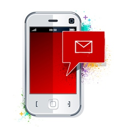 Phone with message symbol vector image