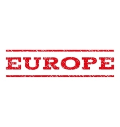 Europe watermark stamp vector