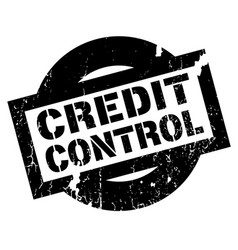 Credit control rubber stamp vector