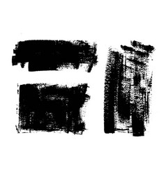 Black paint ink brush stroke background box vector