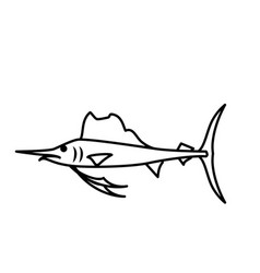 Fish marine animal vector