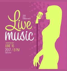 Live music performance advertising template vector