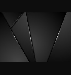 Black abstract tech corporate background vector