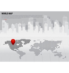 World map with continents north america vector