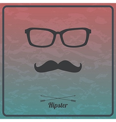 abstract hipster background with mustaches and vector image