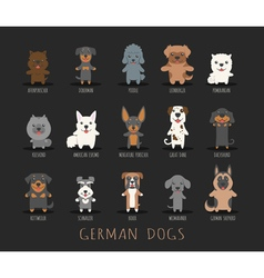 Set of german dogs  eps10 format vector