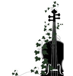 Violin end ivy vector