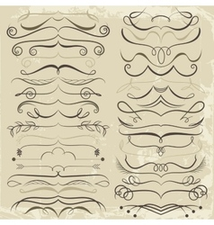 Vintage set of calligraphic elements for design vector