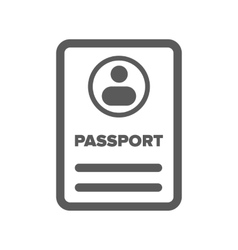 Id passport icon vector