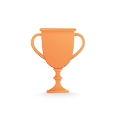 Bronze trophy cup isolated on white vector