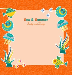 background with fish vector image vector image