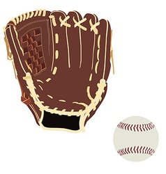 Baseball glove and ball vector image