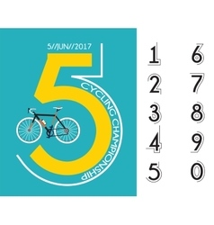 cycling race poster design vector image vector image