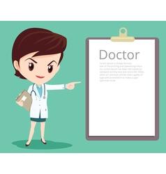 doctor woman smart presenting vector image