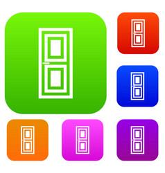 door set collection vector image vector image
