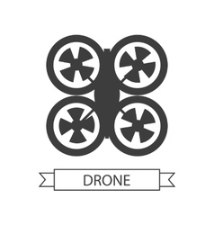 Drone icon isolated unmanned aerial vehicle vector