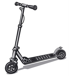 Electro scooter vector