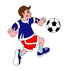 footballer on a white background vector image