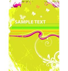 Grunge Floral Design vector image
