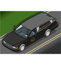 Isometric hearse in front view vector
