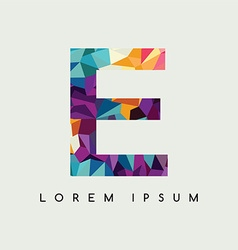 Letter logotype logo abstract colorful triangle vector