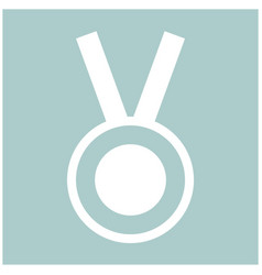 Medal the white color icon vector