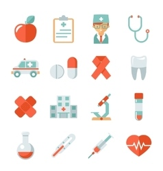 Medicine and health care icons vector image vector image
