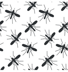 Mosquito seamless pattern vector