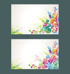 set of colorful flower background vector image