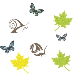set of fun insects vector image vector image
