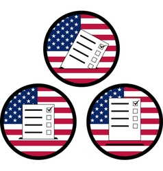 Signs of voting in usa vector