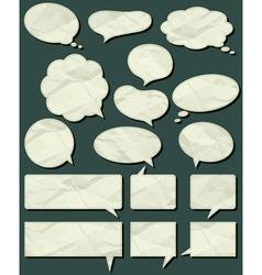 sixteen crumple labels vector image vector image