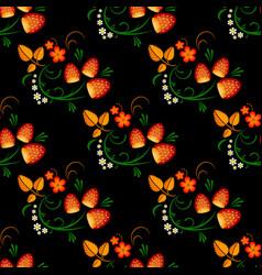 strawberry russian art vector image vector image