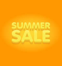 summer sale yellow and orange banner vector image