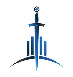 sword sign vector image vector image