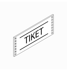Ticket icon isometric 3d style vector image vector image