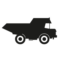 truck black silhouette icons black icon on vector image vector image