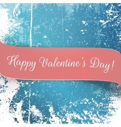 Valentines day realistic pink festive banner vector