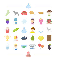 Wedding vegetable and other web icon in cartoon vector