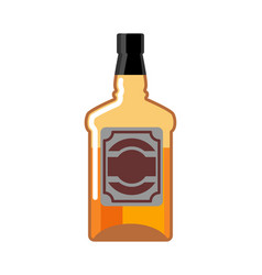Whiskey bottle isolated drink scotch tequila on vector
