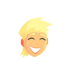 young blonde smiling woman face avatar positive vector image