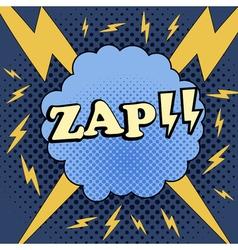 Zap comic cartoon vector