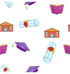 School pattern cartoon style vector image