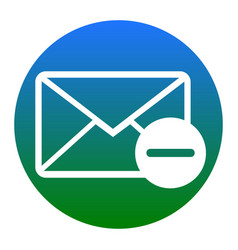 Mail sign   white icon in vector