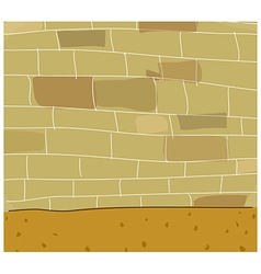 Street brick wall vector