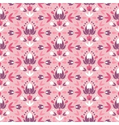 Abstract damask flowers seamless pattern vector image