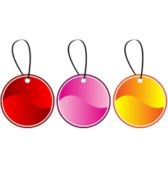 Colored gift tags vector image